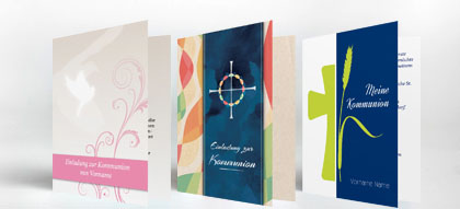 Einladungskarten Kommunion Einladung | Familieneinladungen.de
