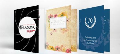 Einladungskarten 70. Geburtstag, Einladung | Familieneinladungen.de