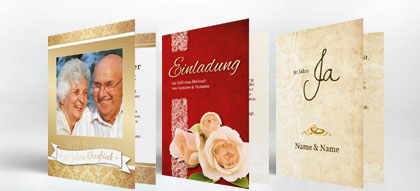 Einladungskarten Goldene Hochzeit | Familieneinladungen.de