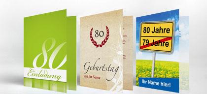 Einladungskarten 80. Geburtstag, Einladung | Familieneinladungen.de