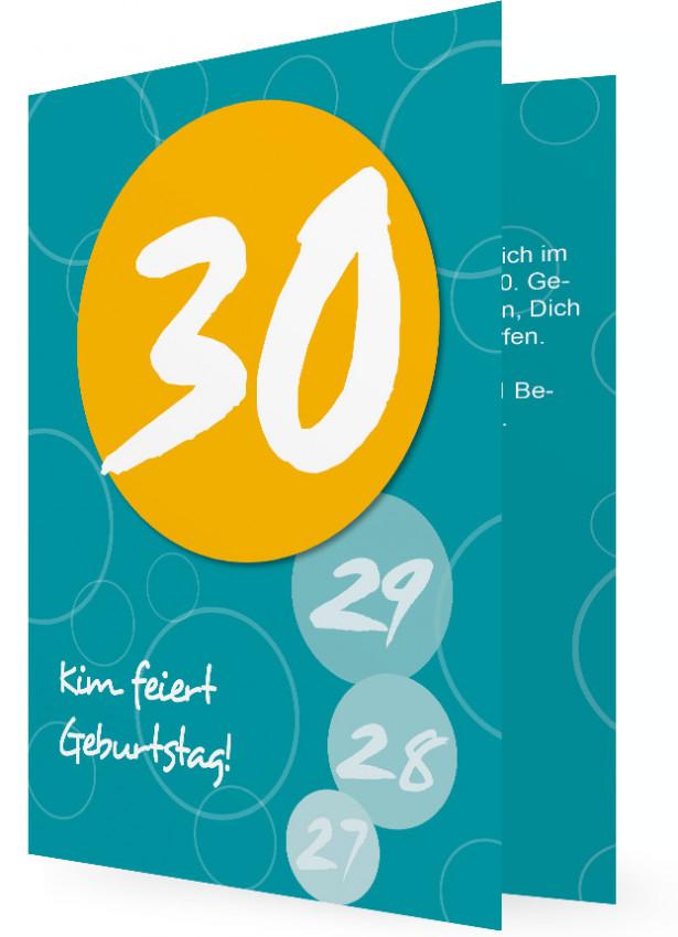 30. geburtstag einladungen | familieneinladungen.de, Einladung