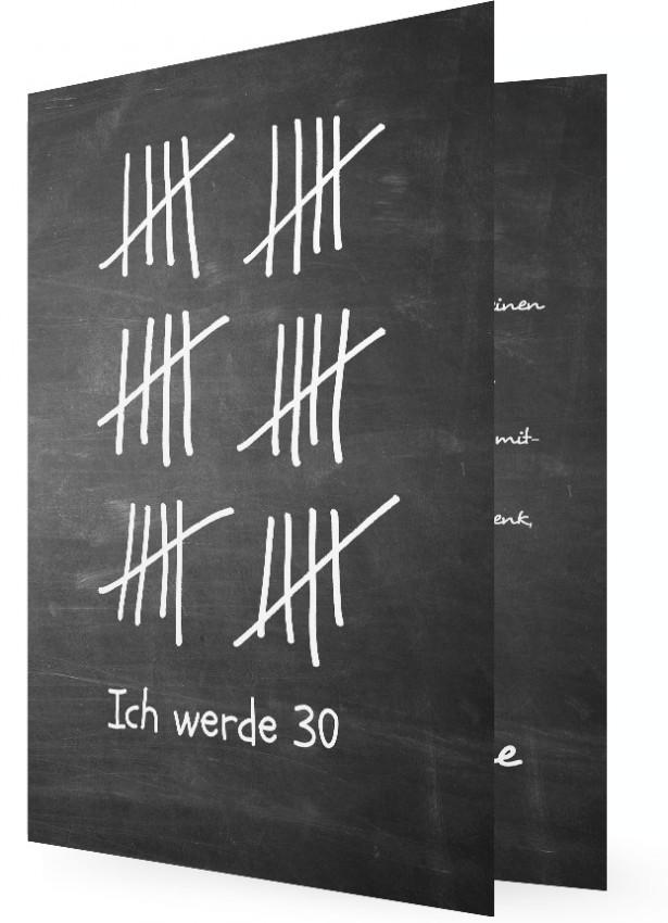 30. Geburtstag Einladungen Vorlagen Gestalten, Tafel Mit Kreide