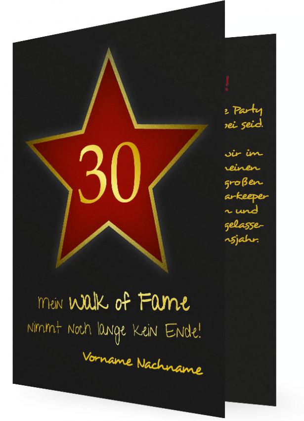 30. geburtstag vorlage einladung | familieneinladungen.de, Einladungsentwurf