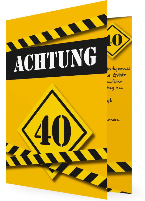 40. geburtstag einladungen | familieneinladungen.de, Einladung