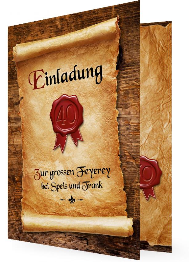 Einladungskarten Zum 75 Geburtstag Elegant Frei Einladung: 40. Geburtstag Einladungen