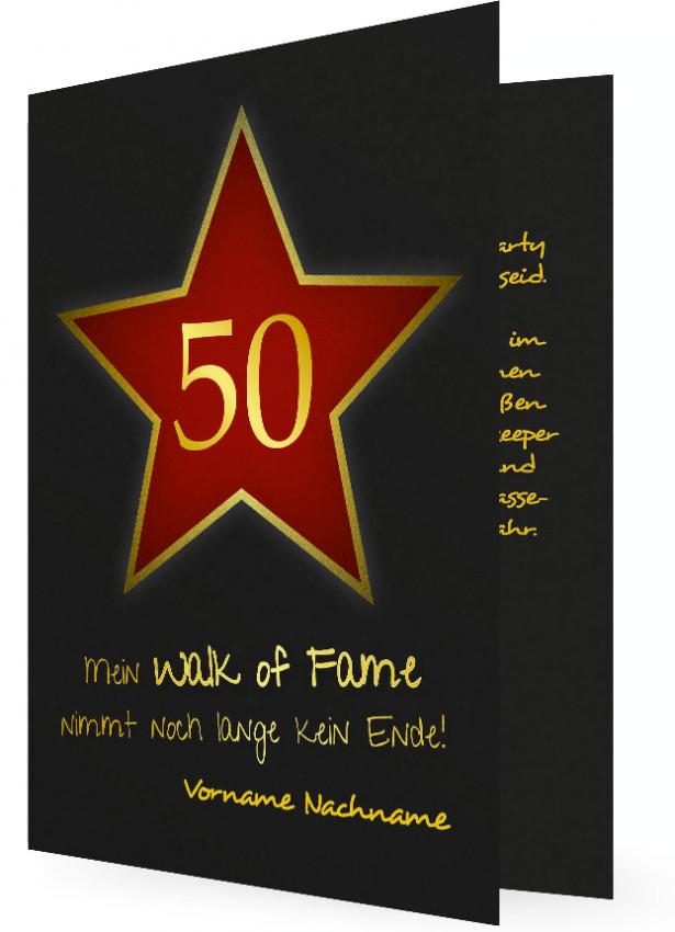 50. Geburtstag Einladungskarten Vorlage ...