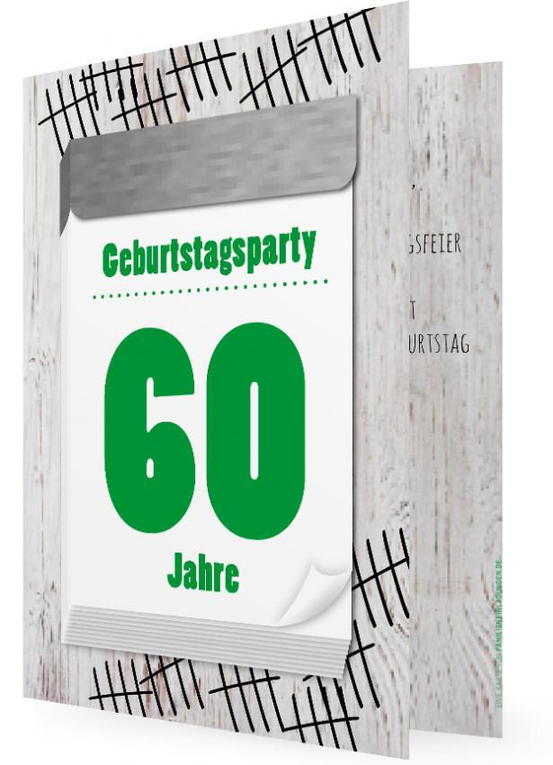60. geburtstag witzige einladung | familieneinladungen.de