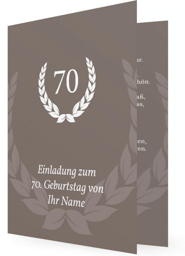 70 geburtstag einladung | familieneinladungen.de, Einladungsentwurf