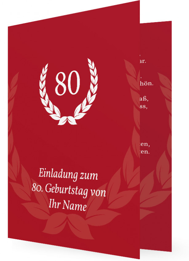 80 Geburtstag Einladung Familieneinladungen De