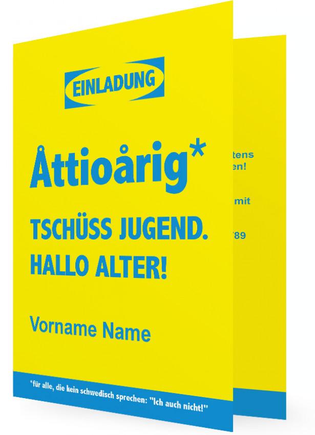 Geburtstag Einladung Vorlage Gestalten, Schwedisch