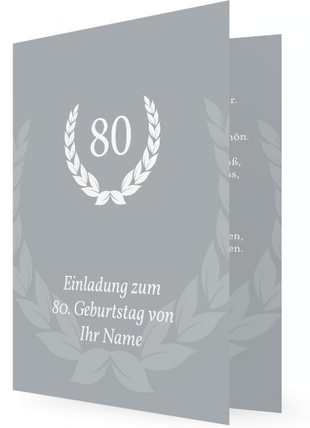 Einladungskarte Zum 80 Geburtstag Familieneinladungen De