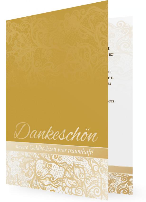 Danksagungskarte Goldene Hochzeit Familieneinladungende