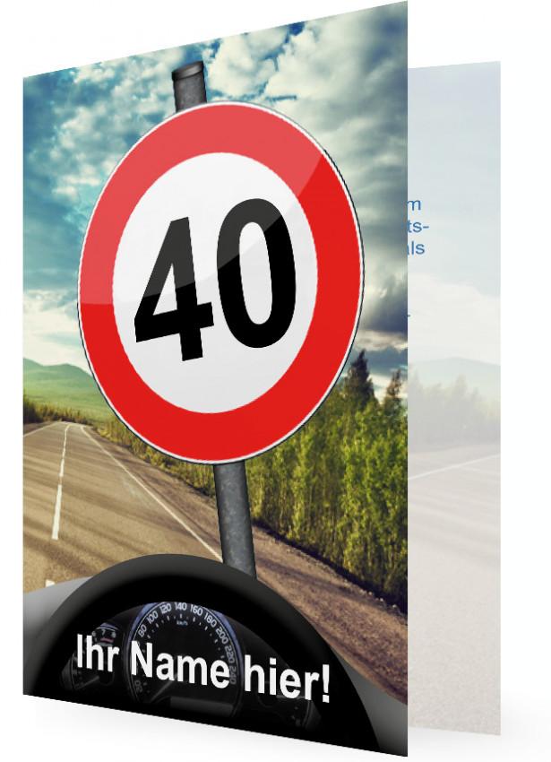 einladung geburtstag 40, lustig | familieneinladungen.de, Einladung