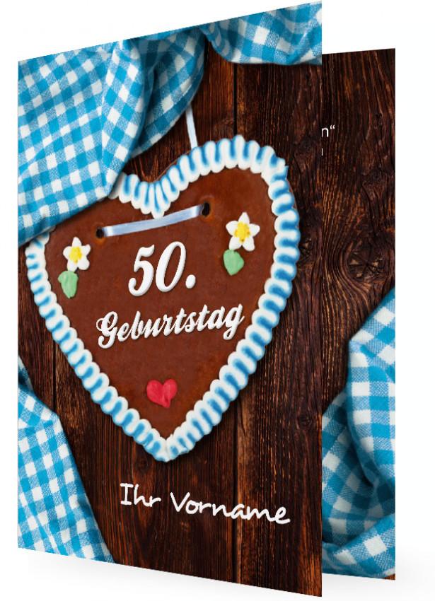 Einladung 50. Geburtstag | Familieneinladungen.de