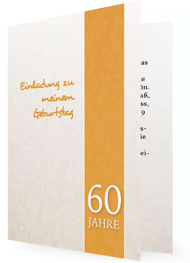 einladung 60. geburtstag (vorlage) | familieneinladungen.de, Einladung