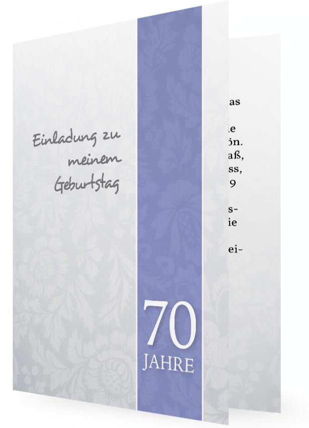 einladung 70. geburtstag (vorlage) | familieneinladungen.de, Einladung