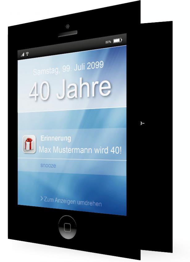 einladung geburtstag 40 | familieneinladungen.de, Einladung