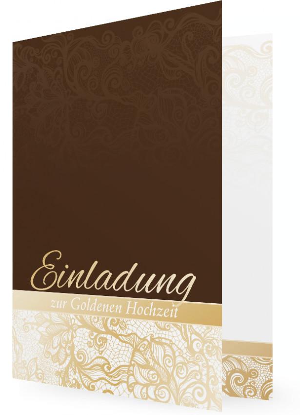 Einladung Goldene Hochzeit Familieneinladungende
