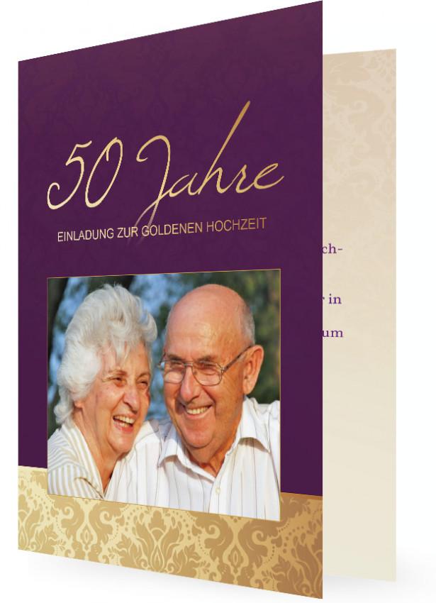 Einladung Goldene Hochzeit | Familieneinladungen.de