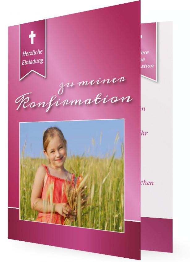 Einladung Konfirmation Vorlagen gestalten | Familieneinladungen.de