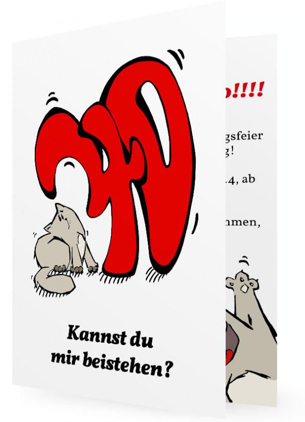 witzige einladung zum 40 geburtstag | familieneinladungen.de, Einladung