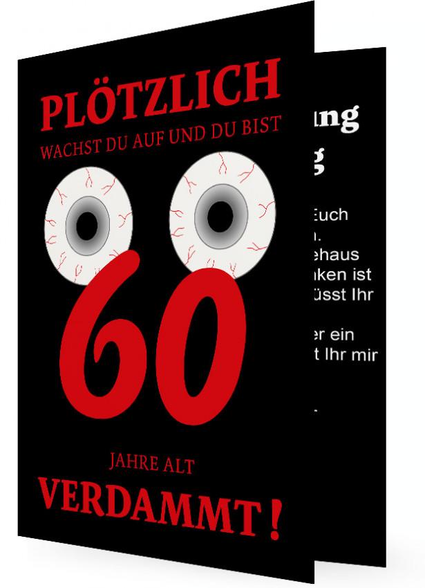 einladung zum 60. geburtstag | familieneinladungen.de, Einladungsentwurf