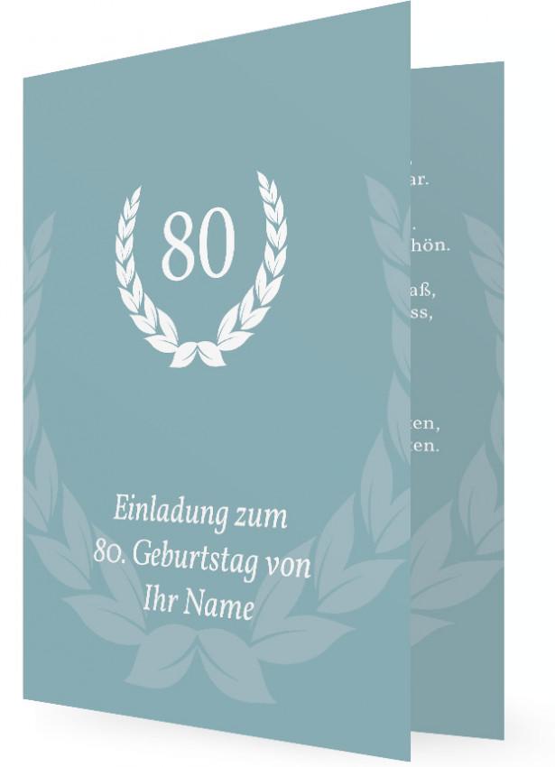 einladung zum geburtstag, 80, muster | familieneinladungen.de, Einladungsentwurf