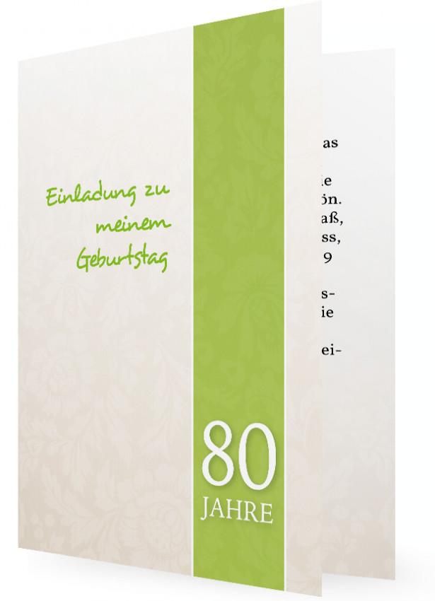 einladung zum 80. geburtstag | familieneinladungen.de, Einladung