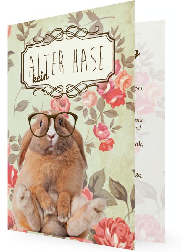 Einladung Zum Geburtstag Witzig, Kein Alter Hase