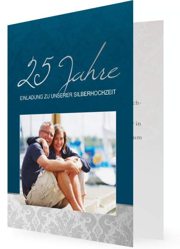 einladung zur silberhochzeit | familieneinladungen.de, Einladung
