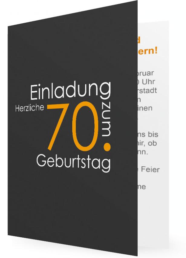 einladungen 70. geburtstag vorlage | familieneinladungen.de, Einladung