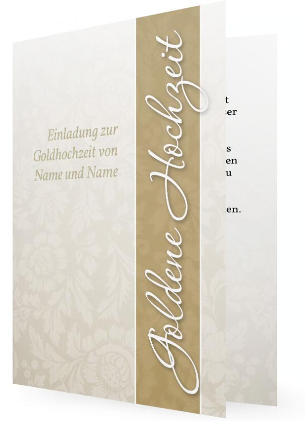 Einladungen Für Goldene Hochzeit Familieneinladungende
