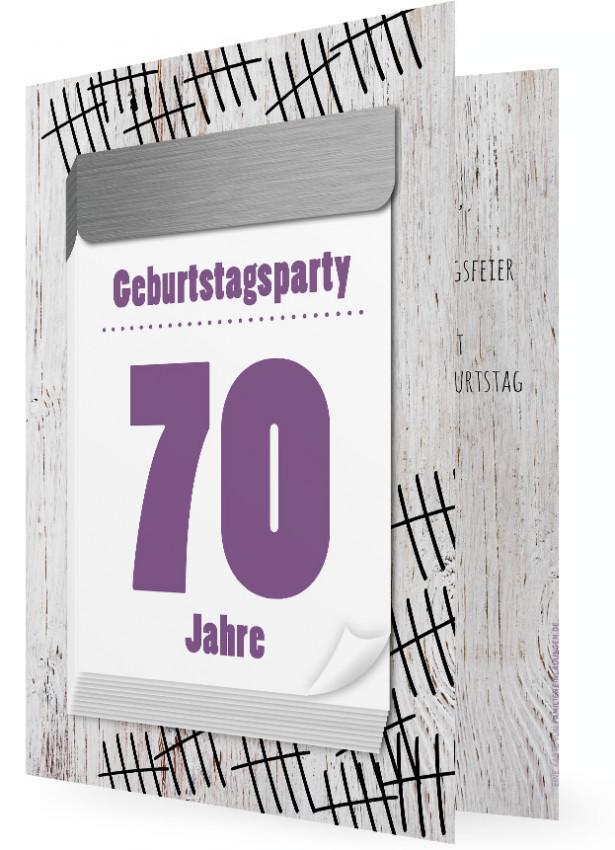 einladungen zum 70. geburtstag | familieneinladungen.de