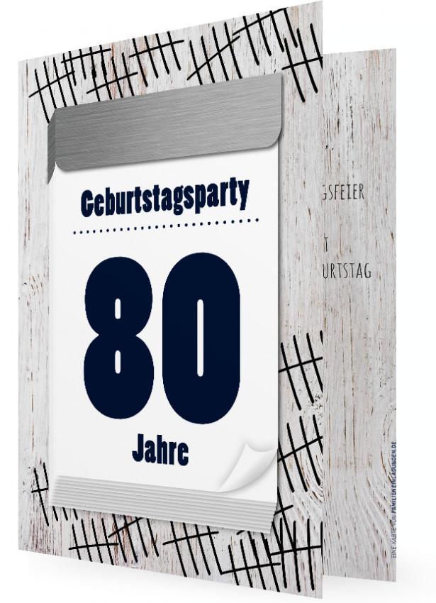Einladungen zum 80. Geburtstag | Familieneinladungen.de