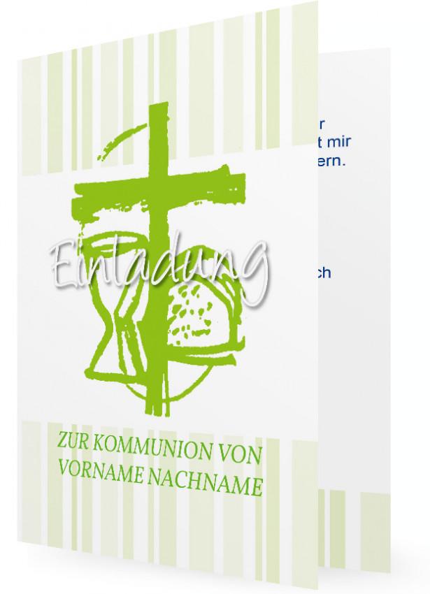 einladungen zur heiligen erstkommunion | familieneinladungen.de, Einladung