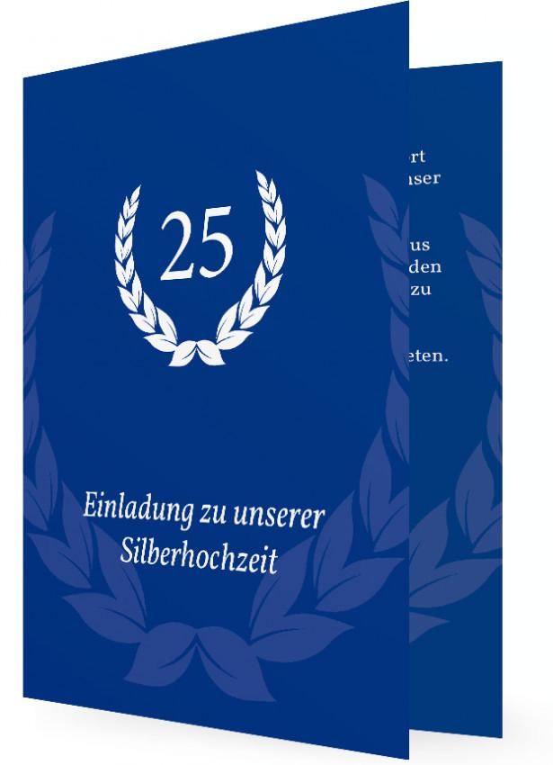 einladungen silberhochzeit mit text | familieneinladungen.de, Einladung