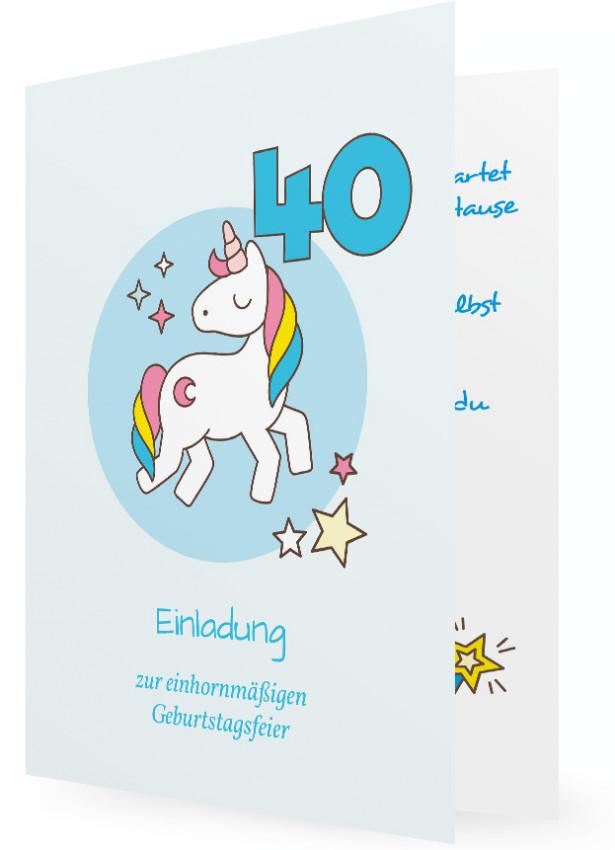 Präferenz Einladungskarte 40. Geburtstag Vorlage | Familieneinladungen.de OM11