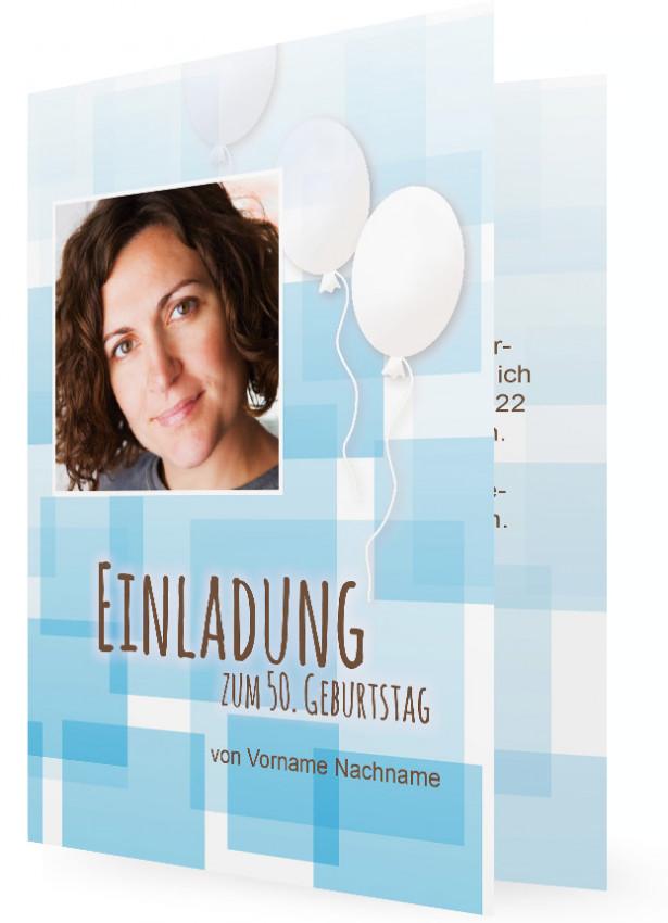 Einladungskarte 50. Geburtstag | Familieneinladungen.de