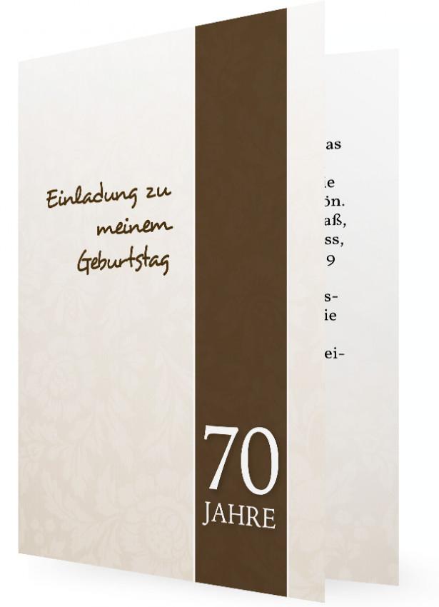 einladungskarte 70. geburtstag | familieneinladungen.de, Einladung