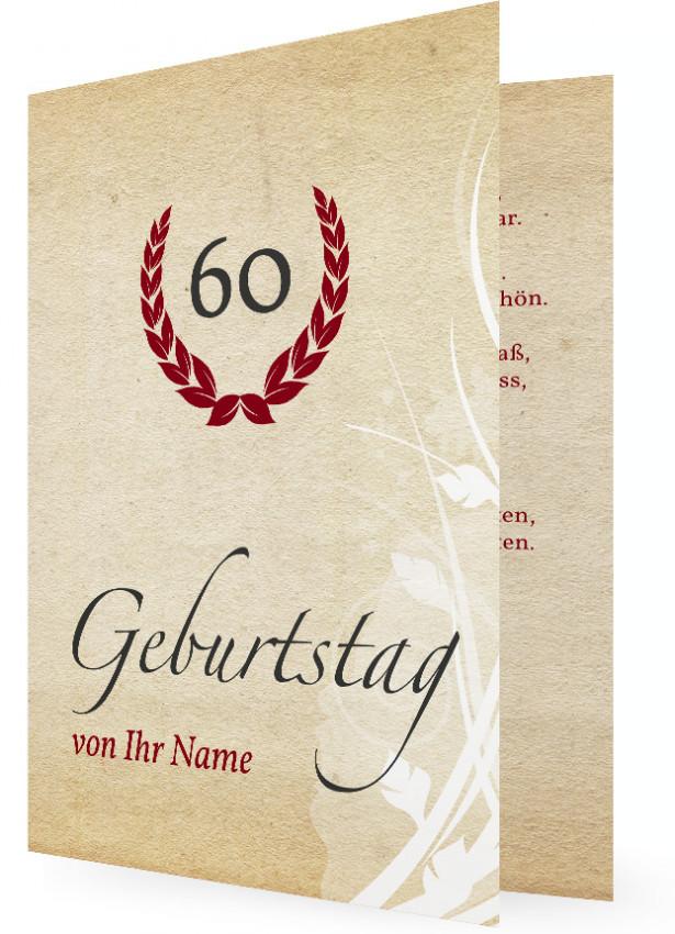 einladungskarte für 60. geburtstag | familieneinladungen.de, Einladung