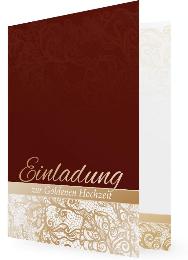 Einladungskarten Goldene Hochzeit Familieneinladungende
