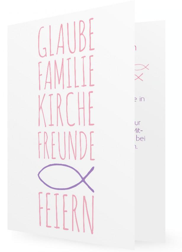 einladungskarten konfirmation vorlage | familieneinladungen.de, Einladung
