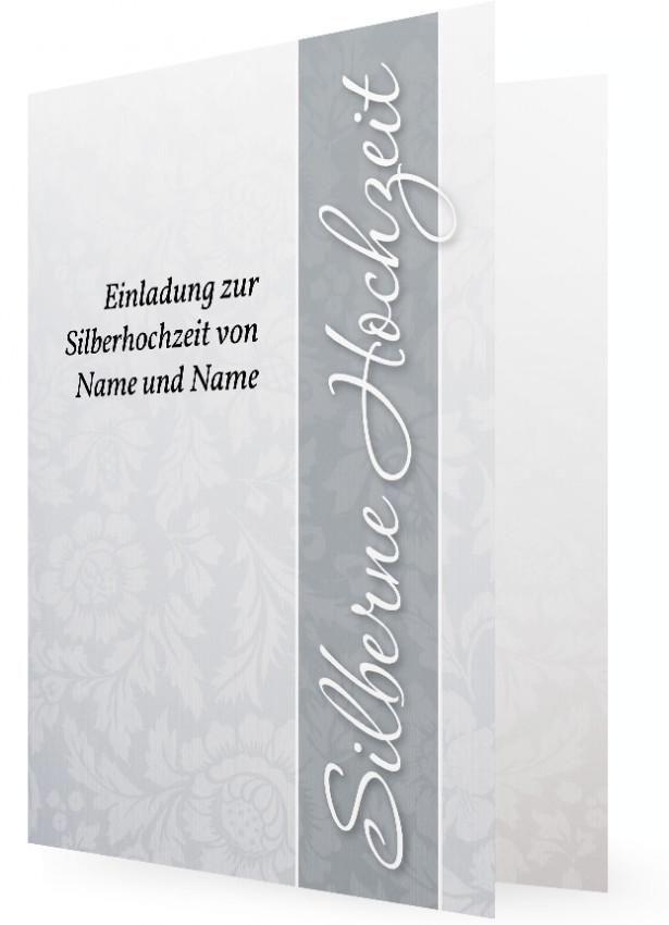 Einladungskarten Silberhochzeit Einladungskarten: Einladungskarten Silberne Hochzeit
