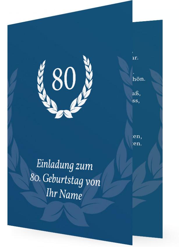 familieneinladungen geburtstag einladungskarten 80 geburtstag ...
