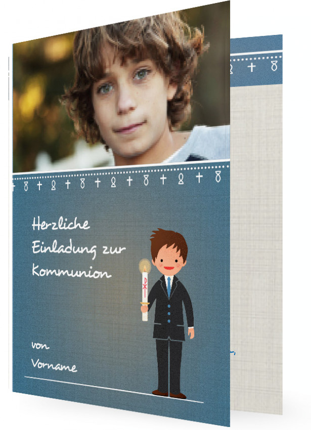 einladungskarten zur heiligen erstkommunion | familieneinladungen.de, Einladungsentwurf