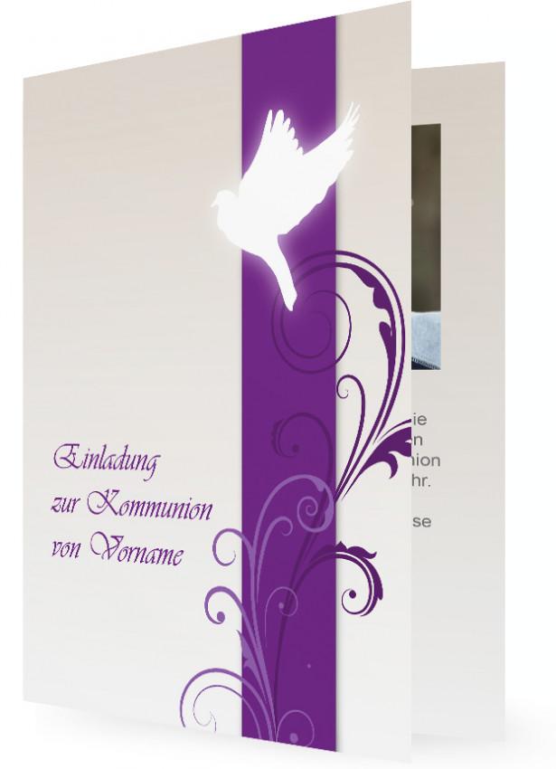 Einladungskarten zur Kommunion | Familieneinladungen.de