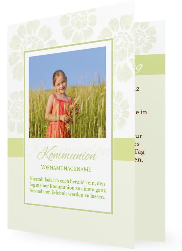 erstkommunion einladungskarte vorlage | familieneinladungen.de