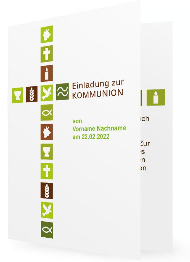 erstkommunion einladungskarte vorlage | familieneinladungen.de, Einladungsentwurf