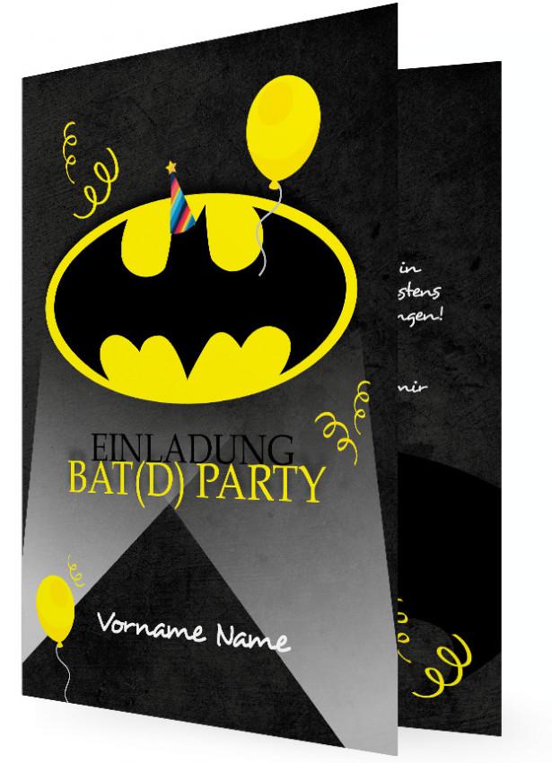 Geburtstag Einladungen Vorlage, Batman