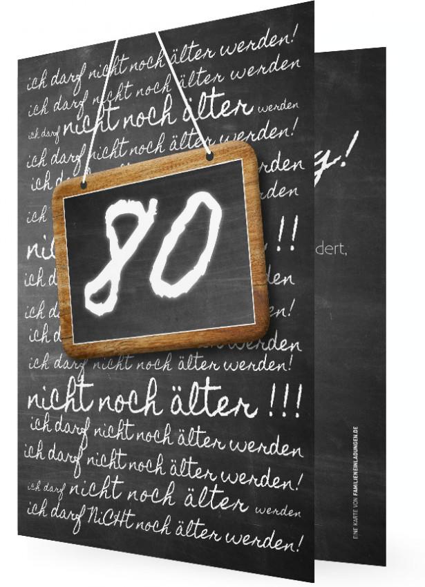 Einladungskarten 80 Geburtstag: Geburtstagseinladung Vorlage